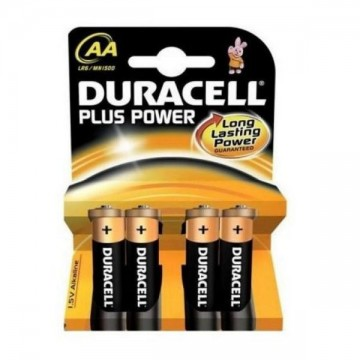 DURACELL Plus DURLR6P4B, LR6, 1.5V, 4x AA baterie alkaliczne